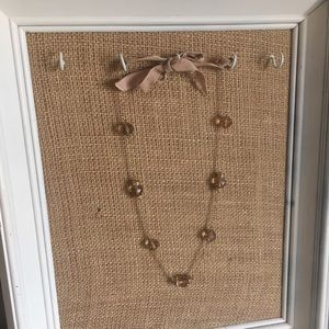 J. Crew Necklace with Ribbon Tie